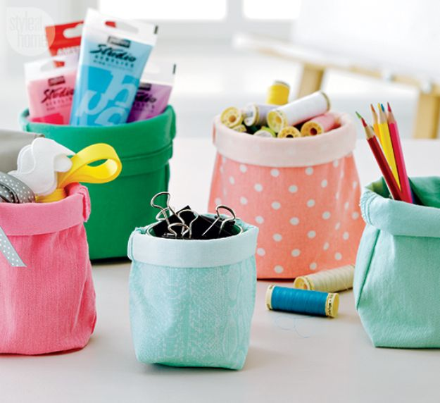 Cheap DIY Gift Ideas - Storage Bags - List of Handmade Gifts on A Budget and Inexpensive Christmas Presents - Do It Yourself Gift Idea for Family and Friends, Mom and Dad, For Guys and Women, Boyfriend, Girlfriend, BFF, Kids and Teens - Dollar Store and Dollar Tree Crafts, Home Decor, Room Accessories and Fun Things to Make At Home http://diyjoy.com/cheap-diy-gift-ideas
