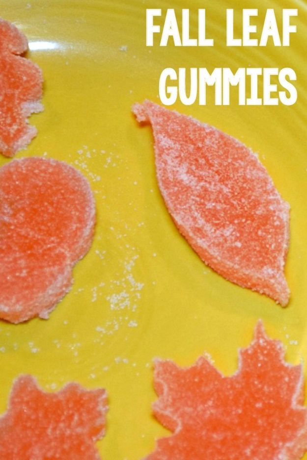 Fun Fall Crafts for Kids - Sugar Gummy Fall Leaves - Cool Crafts Ideas for Kids to Make With Paper, Glue, Leaves, Corn Husk, Pumpkin and Glitter - Halloween and Thanksgiving - Children Love Making Art, Paintings, Cards and Fall Decor - Placemats, Place Cards, Wall Art , Party Food and Decorations for Toddlers, Boys and Girls http://diyjoy.com/fun-fall-crafts-kids