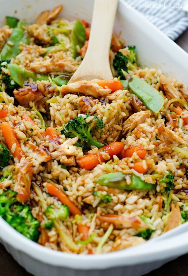 Best Casserole Recipes - Teriyaki Chicken Casserole - Healthy One Pan Meals Made With Chicken, Hamburger, Potato, Pasta Noodles and Vegetable - Quick Casseroles Kids Like - Breakfast, Lunch and Dinner Options - Mexican, Italian and Homestyle Favorites - Party Foods for A Crowd and Potluck Dishes http://diyjoy.com/best-casserole-recipes