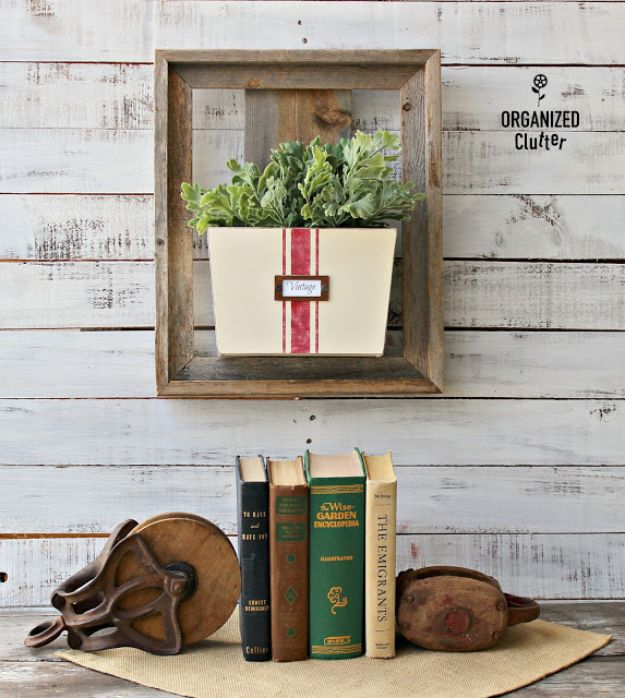 Thrift Store DIY Makeovers - Thrift Shop Wooden Wall Bin - Decor and Furniture With Upcycling Projects and Tutorials - Room Decor Ideas on A Budget - Crafts and Decor to Make and Sell - Before and After Photos - Farmhouse, Outdoor, Bedroom, Kitchen, Living Room and Dining Room Furniture http://diyjoy.com/thrift-store-makeovers