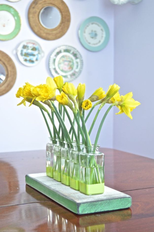 Thrift Store DIY Makeovers - Thrift Store Glass Bud Vase - Decor and Furniture With Upcycling Projects and Tutorials - Room Decor Ideas on A Budget - Crafts and Decor to Make and Sell - Before and After Photos - Farmhouse, Outdoor, Bedroom, Kitchen, Living Room and Dining Room Furniture http://diyjoy.com/thrift-store-makeovers