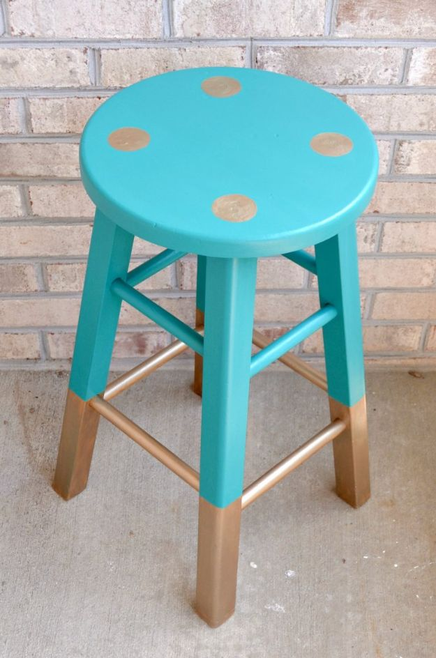 Thrift Store DIY Makeovers - Thrift Store Painted Stool - Decor and Furniture With Upcycling Projects and Tutorials - Room Decor Ideas on A Budget - Crafts and Decor to Make and Sell - Before and After Photos - Farmhouse, Outdoor, Bedroom, Kitchen, Living Room and Dining Room Furniture http://diyjoy.com/thrift-store-makeovers