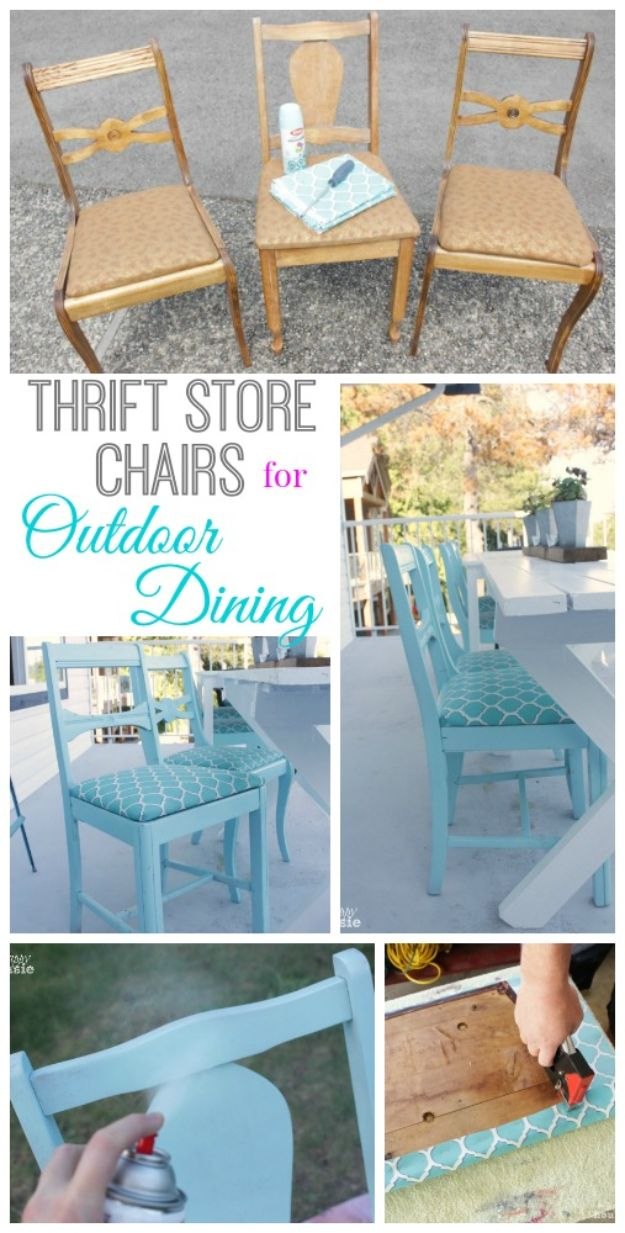 Thrift Store DIY Makeovers - Turn Thrift Store Finds into an Outdoor Dining Set - Decor and Furniture With Upcycling Projects and Tutorials - Room Decor Ideas on A Budget - Crafts and Decor to Make and Sell - Before and After Photos - Farmhouse, Outdoor, Bedroom, Kitchen, Living Room and Dining Room Furniture http://diyjoy.com/thrift-store-makeovers