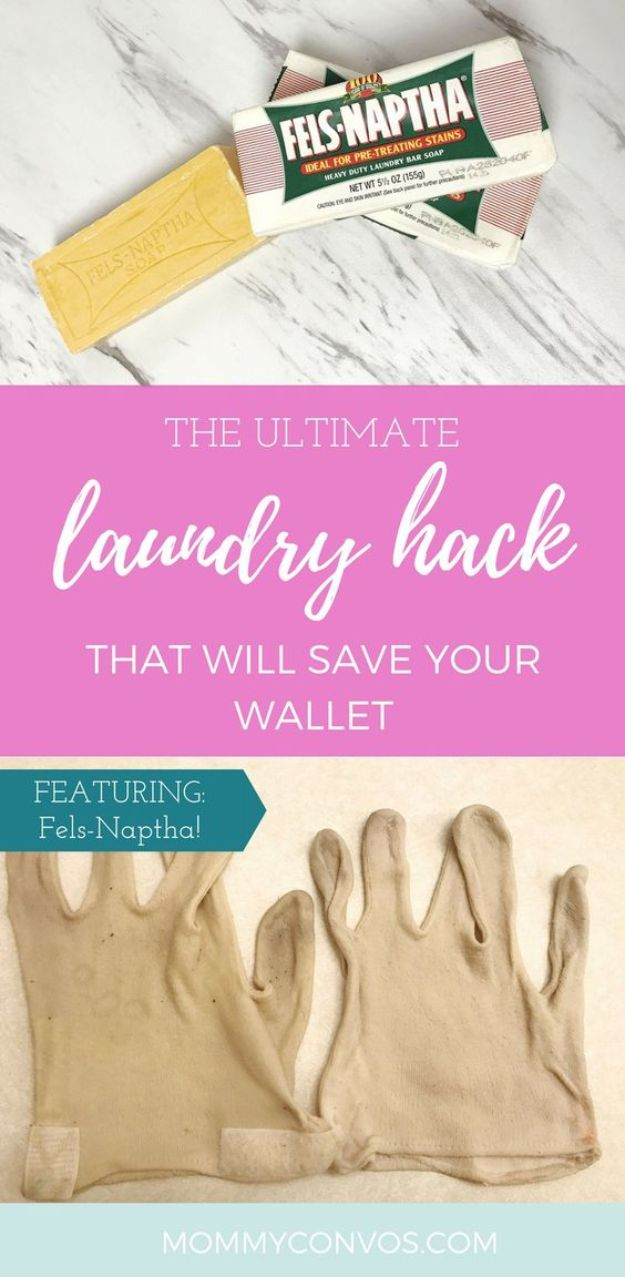 Laundry Hacks - Turn White Gloves Stained Orange, White Again - Cool Tips for Busy Moms and Laundry Lifehacks - Laundry Room Organizing Ideas, Storage and Makeover - Folding, Drying, Cleaning and Stain Removal Tips for Clothes - How to Remove Stains, Paint, Ink and Smells - Whitening Tricks and Solutions - DIY Products and Recipes for Clothing Soaps http://diyjoy.com/laundry-hacks