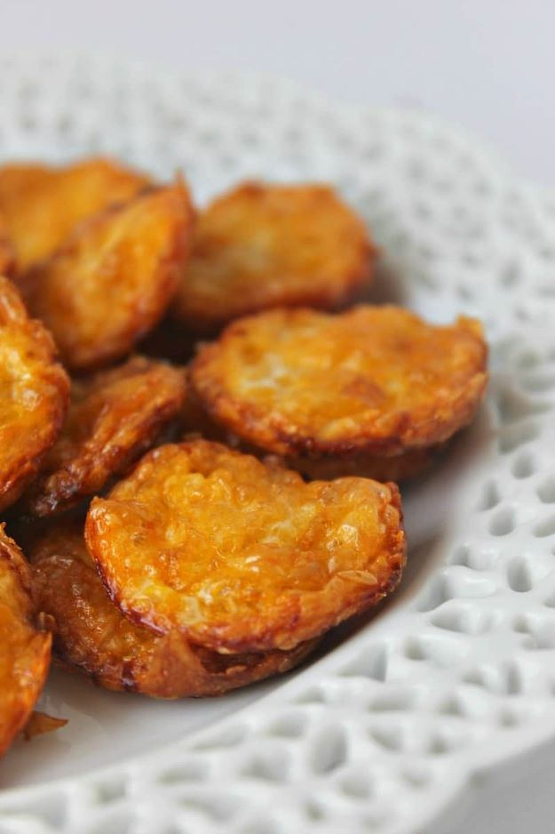 Keto Snacks - Two-Ingredient Cheese Crisps – Keto Friendly - Keto Snack Recipes and Easy Low Carb Foods for the Ketogenic Diet On the Go - Quick Things to Eat for Snacking on Keto - Crunchy Chips, Late Night, Simple Ideas for Work, Sweet Treats and Store Bought Things to Buy for Travel http://diyjoy.com/keto-snacks