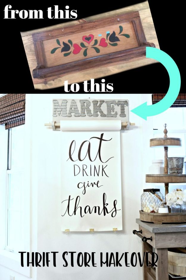 Thrift Store DIY Makeovers - Wall Mounted Paper Holder - Decor and Furniture With Upcycling Projects and Tutorials - Room Decor Ideas on A Budget - Crafts and Decor to Make and Sell - Before and After Photos - Farmhouse, Outdoor, Bedroom, Kitchen, Living Room and Dining Room Furniture http://diyjoy.com/thrift-store-makeovers