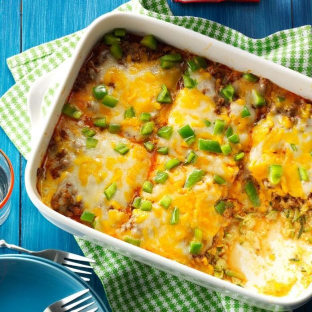 Best Casserole Recipes - Zucchini Pizza Casserole - Healthy One Pan Meals Made With Chicken, Hamburger, Potato, Pasta Noodles and Vegetable - Quick Casseroles Kids Like - Breakfast, Lunch and Dinner Options - Mexican, Italian and Homestyle Favorites - Party Foods for A Crowd and Potluck Dishes #recipes #casseroles