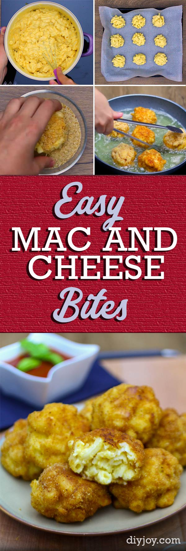 Easy Appetizer Recipes - Fried Macaroni and Cheese Bites Are the Perfect Party Food for A Crowd - Recipe Idea for Simple Snacks to Make At Home