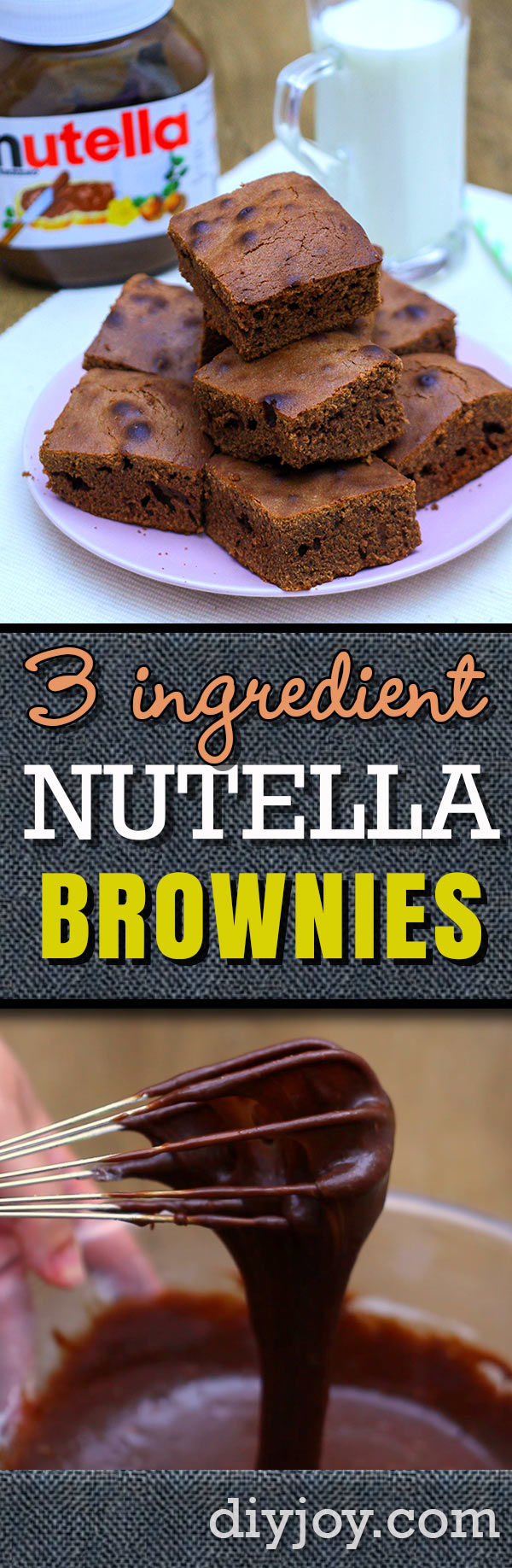Nutella Brownies are Quick and Easy With This 3 Ingredient Recipe Idea - Video Tutorial with Step by Step Instructions - Quick Dessert Idea to Take To A Party
