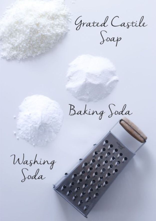 Laundry Detergent Recipes - 3-Ingredient Homemade Laundry Powder - DIY Detergents and Cleaning Recipe Tutorials for Homemade Inexpensive Cleaners You Can Make At Home - Scented Powder and Liquid for He Washer - Save Money With These Cheap Ideas - Natural Products With Essential Oils - Baby, Sensitive Skin Detergent Free Ideas http://diyjoy.com/diy-laundry-detergent-recipes