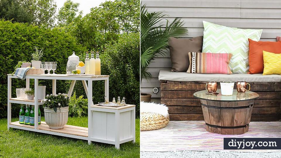 34 DIY Outdoor Furniture Ideas