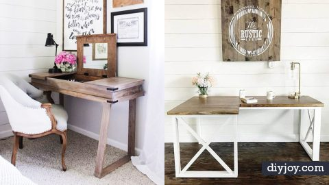 35 DIY Desks That Will Make You Happy To Sit and Work At | DIY Joy Projects and Crafts Ideas