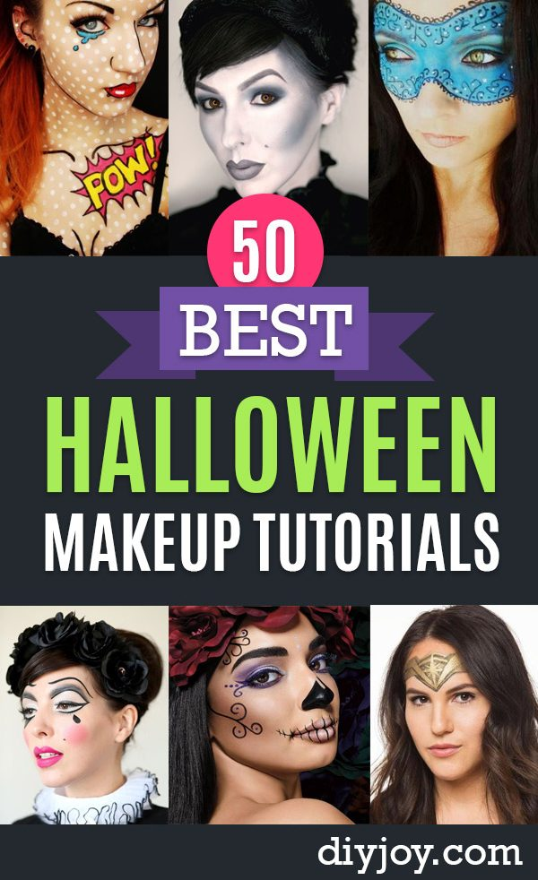 Pinterest Halloween Makeup Tutorials - Easy Makeup Tips and Step by Step Tutorial Ideas for The Best Halloween Costume - Animals, Eyes, Creative Faces, Simple and Scary Ghosts, Skeletons and Creatures - Zombie Makeup, Cute Looks, DIY Vampire, Gypsy, Mermaid and Creepy Sugar Skull, Cool Glam Looks for A Halloween Party and Instagram Photos - Ideas for Couples and Kids
