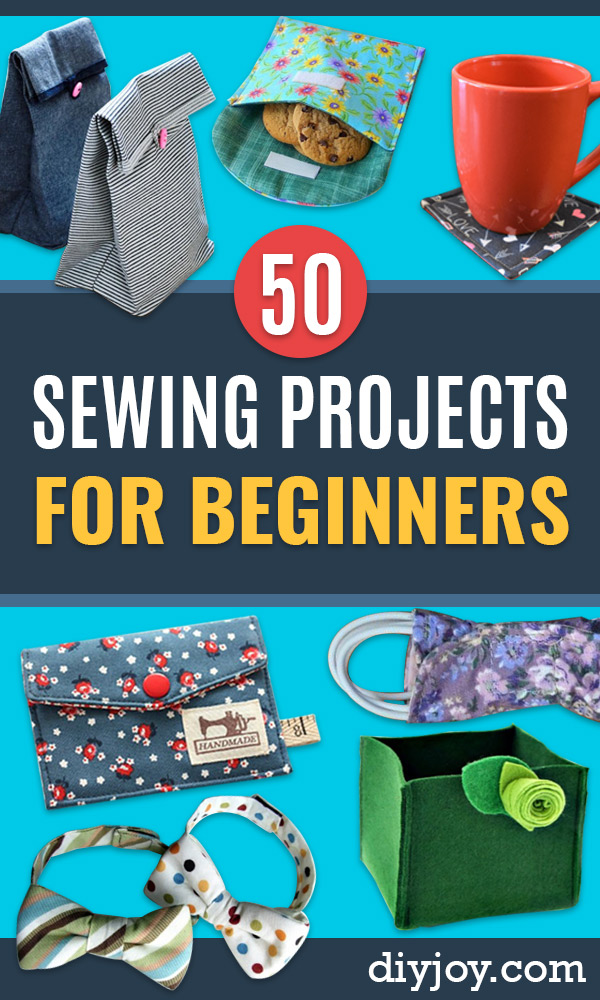 easy sewing projects for beginners - quick Sewing Project Ideas and Free Patterns for Basic Clothing, Kids Clothes, Quick Baby Gifts, DIY Bags, Sewing Crafts to Make and Sell on Etsy - Scarf Tutorial, Blankets, Stuffed Animals, Home Decor and Linens, Curtains and Bedding, Hand Sewn and machine  Items That You Can Sew For Cute Christmas Presents - Creative Sewing Craft Ideas