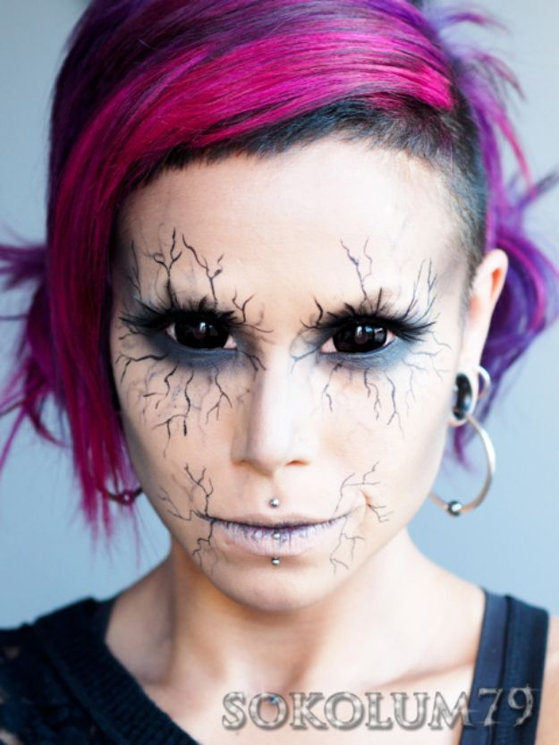 Best Halloween Makeup Tutorials - Angel of Death Look - Easy Makeup Tips and Tutorial Ideas for The Best Halloween Costume - Animals, Eyes, Creative Faces, Simple and Scary Ghosts, Skeletons and Creatures - Zombie Makeup, Cute Looks, DIY Vampire, Gypsy, Mermaid and Creepy Sugar Skull, Cool Glam Looks for A Halloween Party and Instagram Photos - Ideas for Couples and Kids http://diyjoy.com/best-halloween-makeup-tutorials