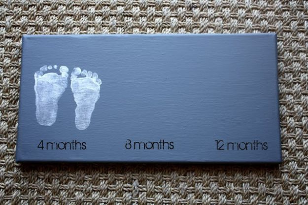 DIY Nursery Decor - Baby Footprints - Easy Projects to Make for Baby Room - Decorations for Boy and Girl Rooms, Unisex, Minimalist and Modern Nurseries and Rustic, Farmhouse Style - All White, Pink, Blue, Yellow and Green - Cribs, Bedding, Wall Art and Hangings, Rocking Chairs, Pillows, Changing Tables, Storage and Bassinet for Baby #diybaby #babygifts #nurserydecor