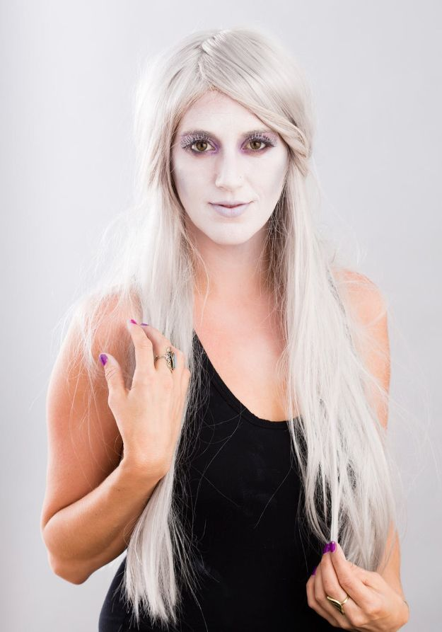 Best Halloween Makeup Tutorials - Become a Gorgeous Ghost - Easy Makeup Tips and Tutorial Ideas for The Best Halloween Costume - Animals, Eyes, Creative Faces, Simple and Scary Ghosts, Skeletons and Creatures - Zombie Makeup, Cute Looks, DIY Vampire, Gypsy, Mermaid and Creepy Sugar Skull, Cool Glam Looks for A Halloween Party and Instagram Photos - Ideas for Couples and Kids http://diyjoy.com/best-halloween-makeup-tutorials