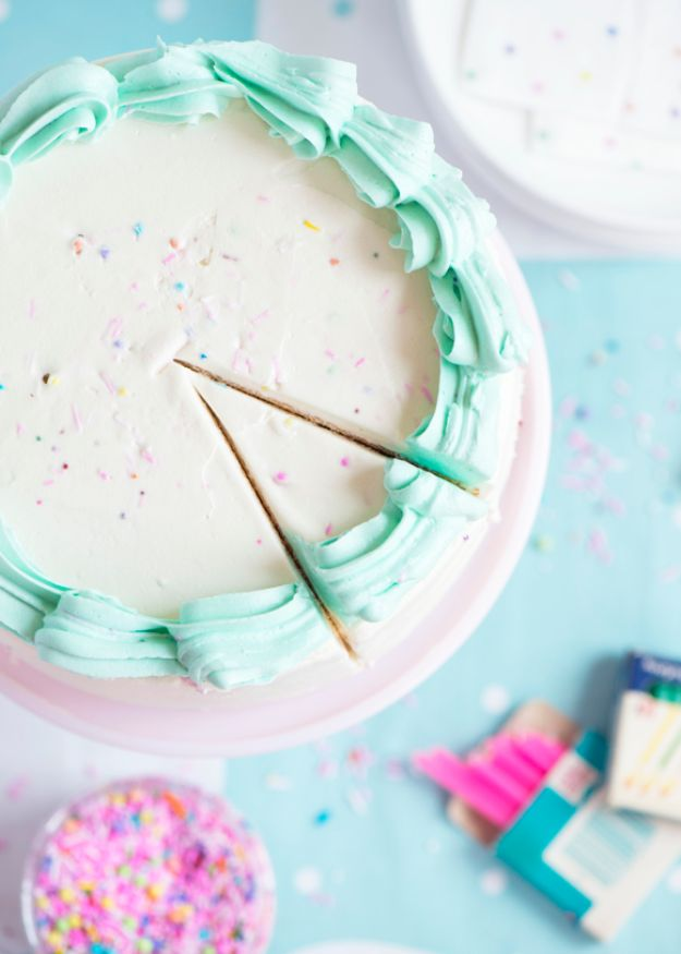 DIY Birthday Cakes - Best Buttermilk Birthday Cake - How To Make A Birthday Cake With Step by Step Tutorial - Bake Homemade Cakes for Special Occasions and Birthdays With These Best Birthday Cake Recipes - Fancy Chocolate, Basic Vanilla Buttercream easy cakes recipes birthdays
