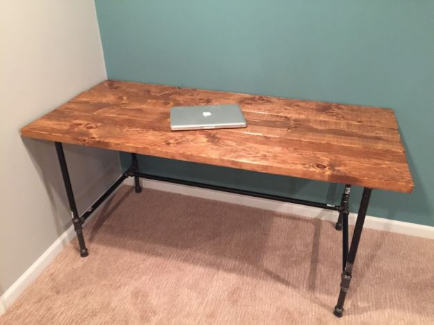 DIY Desks - Build A Rustic Factory Salvage Desk - Easy To Make Do It Yourself Desk Projects With Step by Step tutorials - Rustic Wood Pallet, Farmhouse Style Furniture, Modern Design and Upcycling Makeover Project Plans - Standing Computer Desks, Ideas for Small Spaces and Home Office - Cheap Desks With Built In Organization, With Storage, With Hutch and Filing Cabinets DIY Desks - DIY Standing Desk Transformation - Easy To Make Do It Yourself Desk Projects With Step by Step tutorials - Rustic Wood Pallet, Farmhouse Style Furniture, Modern Design and Upcycling Makeover Project Plans - Standing Computer Desks, Ideas for Small Spaces and Home Office - Cheap Desks With Built In Organization, With Storage, With Hutch and Filing Cabinets