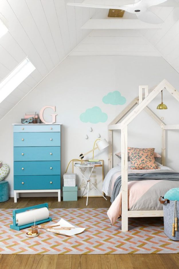DIY Bed Frames - Build a House Frame Twin Bed - How To Make a Headboard - Do It Yourself Projects for Platform Beds, Twin, King, Queen and Full Bed - Kids Rooms, Drawers and Storage Units, Bookshelf - Rustic, Farmhouse Style Furniture For Your Bedroom, Modern Decor, Cheap and Easy Ways to Make a Bed With Step by Step Tutorial and Free Plans http://diyjoy.com/diy-bed-frames
