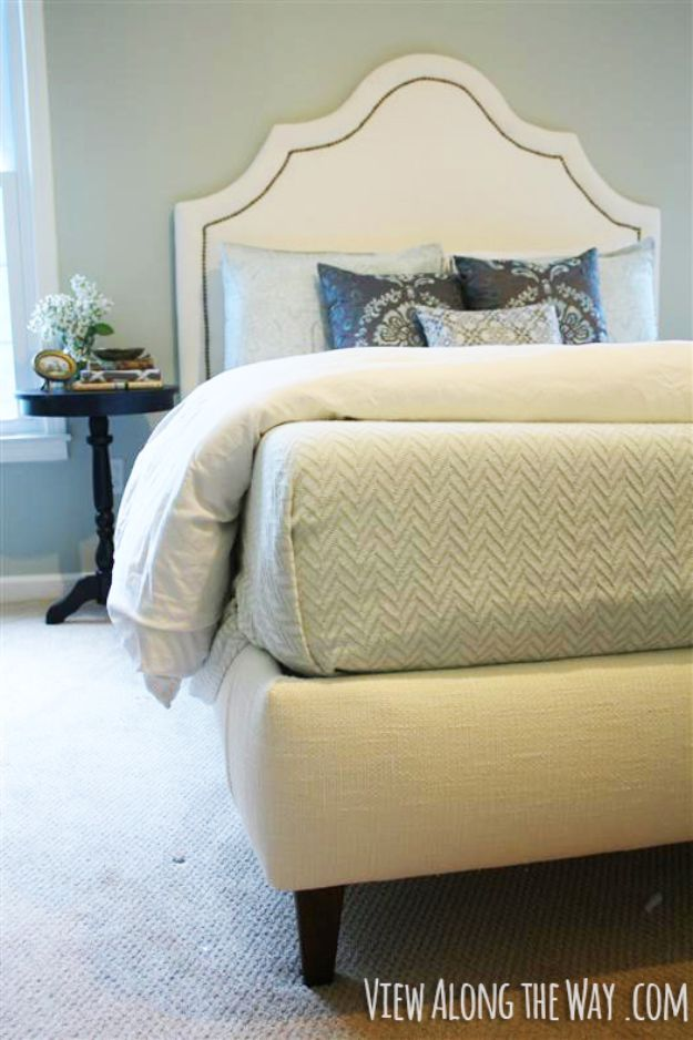 DIY Bed Frames - Build an Upholstered Bed - How To Make a Headboard - Do It Yourself Projects for Platform Beds, Twin, King, Queen and Full Bed - Kids Rooms, Drawers and Storage Units, Bookshelf step by step tutorial free plans