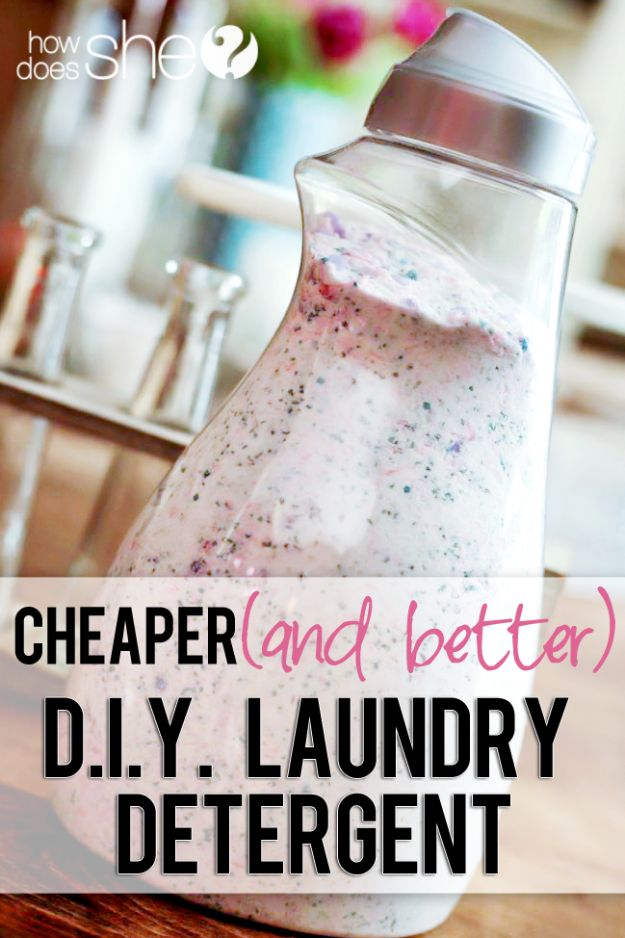 Laundry Detergent Recipes - Cheaper and Better Homemade DIY Laundry Detergent – Borax Free - DIY Detergents and Cleaning Recipe Tutorials for Homemade Inexpensive Cleaners You Can Make At Home - Scented Powder and Liquid for He Washer - Save Money With These Cheap Ideas - Natural Products With Essential Oils - Baby, Sensitive Skin Detergent Free Ideas http://diyjoy.com/diy-laundry-detergent-recipes