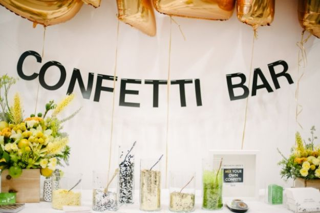Dollar Tree Wedding Ideas - Confetti Bar - Cheap and Easy Dollar Store Crafts from Your Local Dollar Tree Store - Inexpensive Wedding Decor for the Bride on A Budget - Crafts and Centerpieces, Guest Book, Favors and Decorations You Can Make for Weddings - Pretty, Creative Flowers, Table Decor, Place Cards, Signs and Event Planning Idea