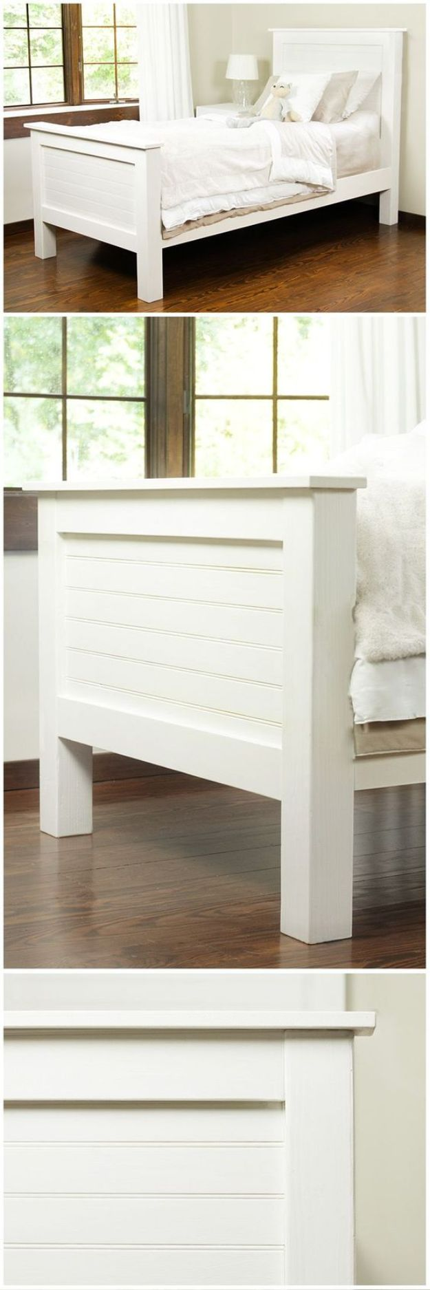 DIY Bed Frames - DIY Bed Frame From Tongue and Groove Planks - How To Make a Headboard - Do It Yourself Projects for Platform Beds, Twin, King, Queen and Full Bed - Kids Rooms, Drawers and Storage Units, Bookshelf - Rustic, Farmhouse Style Furniture For Your Bedroom, Modern Decor, Cheap and Easy Ways to Make a Bed With Step by Step Tutorial and Free Plans http://diyjoy.com/diy-bed-frames