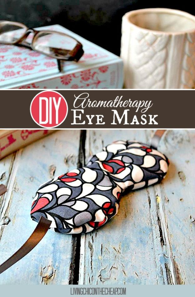 Sewing Projects for Beginners - DIY Eye Mask - Easy Sewing Project Ideas and Free Patterns for Basic Clothing, Kids Clothes, Quick Baby Gifts, DIY Bags, Sewing Crafts to Make and Sell on Etsy - Scarf Tutorial, Blankets, Stuffed Animals, Home Decor and Linens, Curtains and Bedding, Hand Sewn cute christmas gifts to sew
