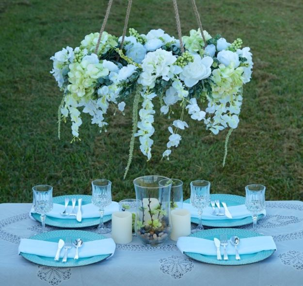 Dollar Tree Wedding Ideas - DIY Hula Hoop Romantic Floral Canopy - Cheap and Easy Dollar Store Crafts from Your Local Dollar Tree Store - Inexpensive Wedding Decor for the Bride on A Budget - Crafts and Centerpieces, Guest Book, Favors and Decorations You Can Make for Weddings - Pretty, Creative Flowers, Table Decor, Place Cards, Signs and Event Planning Idea