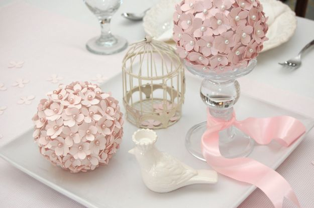 Dollar Tree Wedding Ideas - DIY Paper Flower Pomander - Cheap and Easy Dollar Store Crafts from Your Local Dollar Tree Store - Inexpensive Wedding Decor for the Bride on A Budget - Crafts and Centerpieces, Guest Book, Favors and Decorations You Can Make for Weddings - Pretty, Creative Flowers, Table Decor, Place Cards, Signs and Event Planning Idea