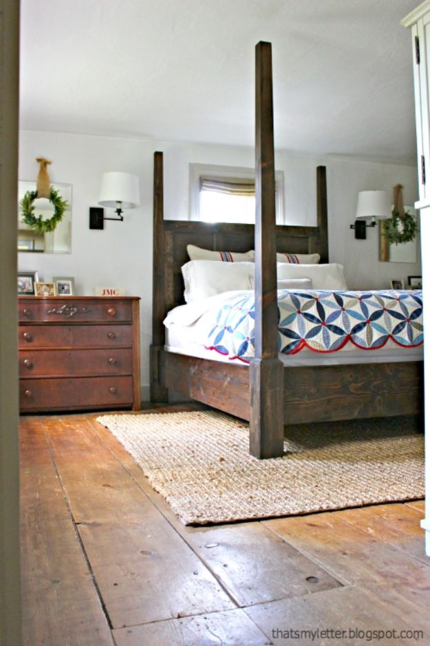 DIY Bed Frames - DIY Poster Bed - How To Make a Headboard - Do It Yourself Projects for Platform Beds, Twin, King, Queen and Full Bed - Kids Rooms, Drawers and Storage Units, Bookshelf - Rustic, Farmhouse Style Furniture For Your Bedroom, Modern Decor, Cheap and Easy Ways to Make a Bed With Step by Step Tutorial and Free Plans http://diyjoy.com/diy-bed-frames