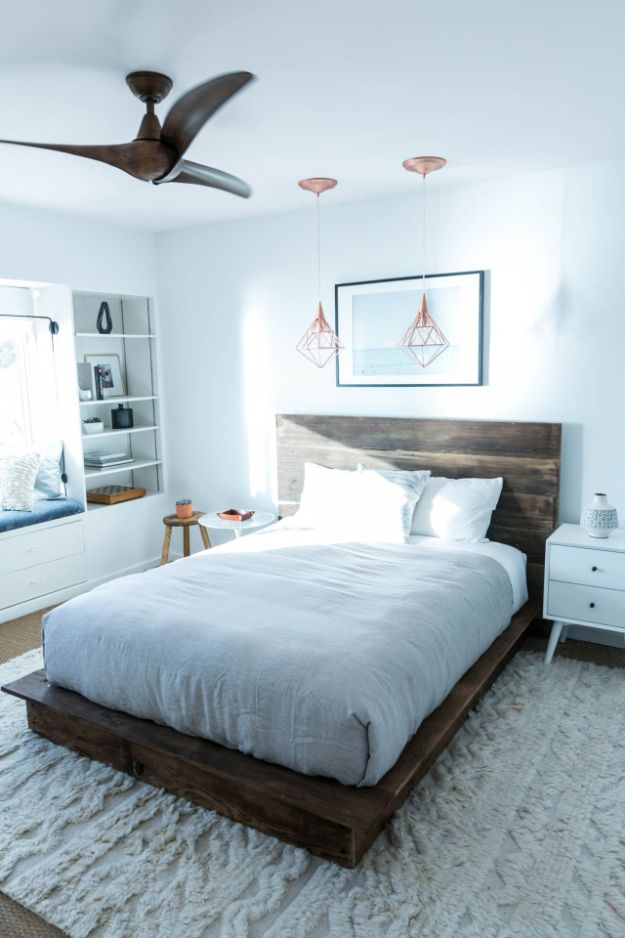 DIY Bed Frames - DIY Reclaimed Wood Platform Bed - How To Make a Headboard - Do It Yourself Projects for Platform Beds, Twin, King, Queen and Full Bed - Kids Rooms, Drawers and Storage Units, Bookshelf - Rustic, Farmhouse Style Furniture For Your Bedroom, Modern Decor, Cheap and Easy Ways to Make a Bed With Step by Step Tutorial and Free Plans http://diyjoy.com/diy-bed-frames