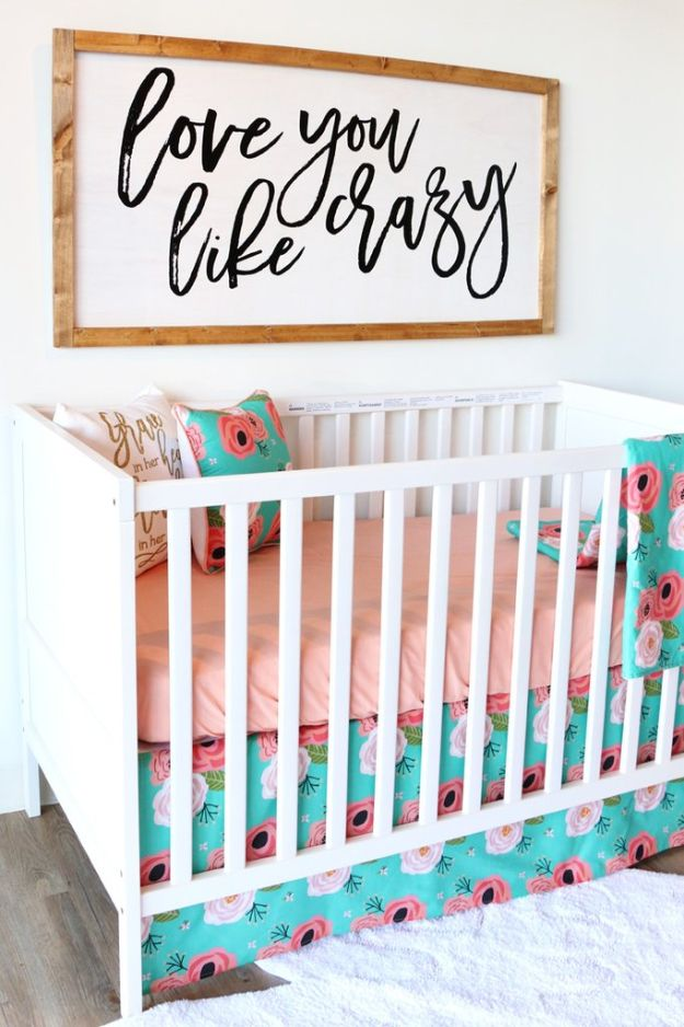 DIY Nursery Decor - DIY Rustic Nursery Decor - Easy Projects to Make for Baby Room - Decorations for Boy and Girl Rooms, Unisex, Minimalist and Modern Nurseries and Rustic, Farmhouse Style - All White, Pink, Blue, Yellow and Green - Cribs, Bedding, Wall Art and Hangings, Rocking Chairs, Pillows, Changing Tables, Storage and Bassinet for Baby #diybaby #babygifts #nurserydecor