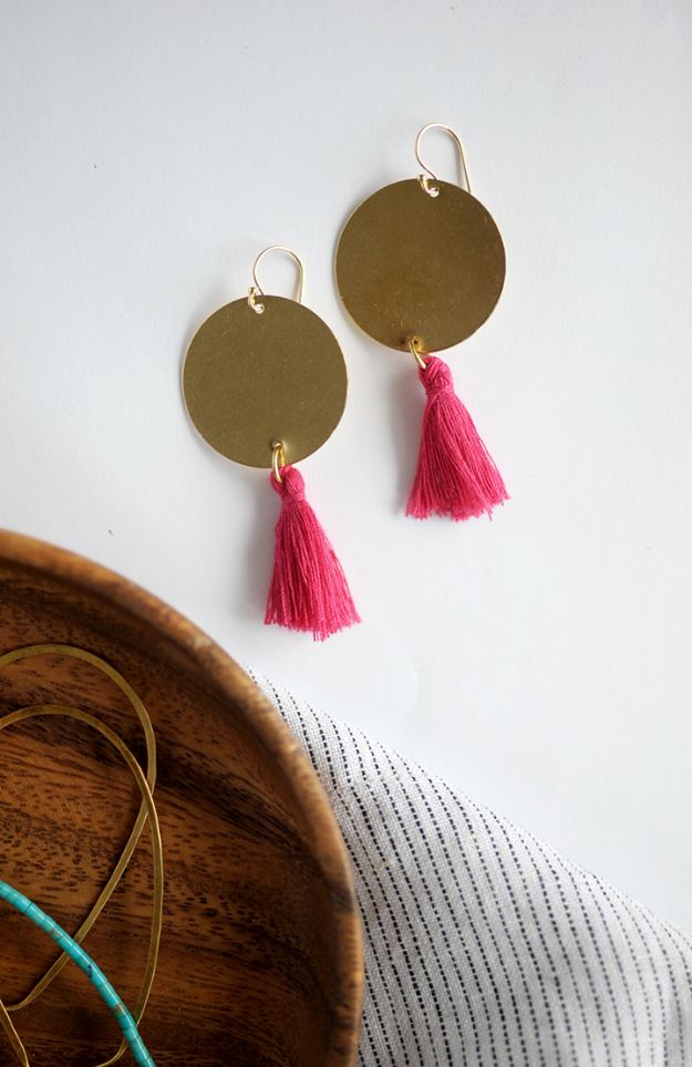 DIY Earrings - DIY Statement Earrings - Easy Earring Projects for Studs, Dangle, Hoops, Tassel, Wire Wrap Beads and Handmade Cuff - Vintage, Boho, Beaded, Leather, Fabric andCrochet Ideas - Cheap Gifts for Her - Homemade Jewelry Tutorials With Step By Step Instructions