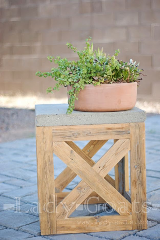 DIY Outdoor Furniture - DIY X-Stool or Table - Cheap and Easy Ideas for Patio and Porch Seating and Tables, Chairs, Sofas - How To Make Outdoor Furniture Projects on A Budget - Fmaily Friendly Decor Kids Love - Quick Projects to Make This Weekend - Swings, Pallet Tables, End Tables, Rocking Chairs, Daybeds and Benches http://diyjoy.com/diy-outdoor-furniture