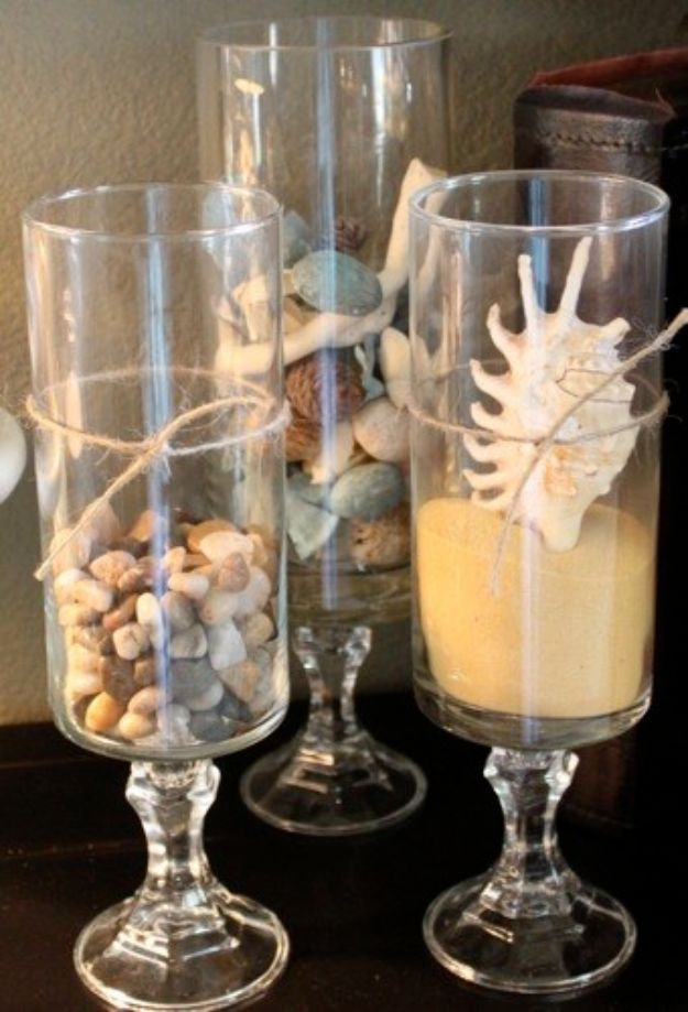 Dollar Tree Wedding Ideas - Dollar Store Hurricanes - Cheap and Easy Dollar Store Crafts from Your Local Dollar Tree Store - Inexpensive Wedding Decor for the Bride on A Budget - Crafts and Centerpieces, Guest Book, Favors and Decorations You Can Make for Weddings - Pretty, Creative Flowers, Table Decor, Place Cards, Signs and Event Planning Idea