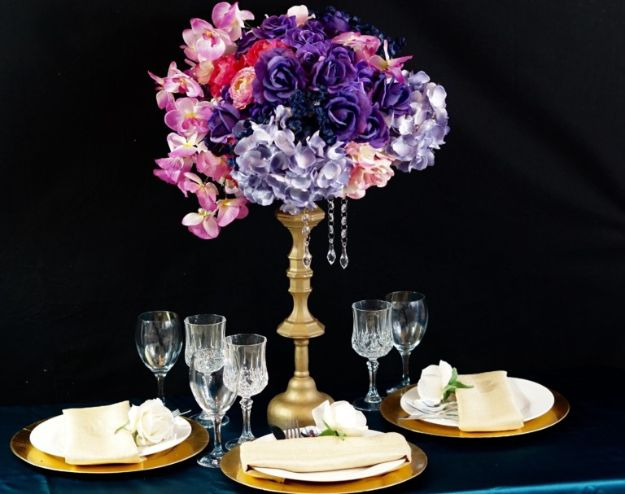 Dollar Tree Wedding Ideas - Dollar Tree Inspired Candlestick Holder Wedding Centerpiece - Cheap and Easy Dollar Store Crafts from Your Local Dollar Tree Store - Inexpensive Wedding Decor for the Bride on A Budget - Crafts and Centerpieces, Guest Book, Favors and Decorations You Can Make for Weddings - Pretty, Creative Flowers, Table Decor, Place Cards, Signs and Event Planning Idea