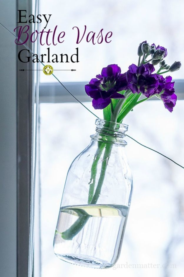 Dollar Tree DIY Wedding Decor Ideas - Easy Bottle Garland - Cheap and Easy Dollar Store Crafts from Your Local Dollar Tree Store - Inexpensive Wedding Decor for the Bride on A Budget - Crafts and Centerpieces, Guest Book, Favors and Decorations You Can Make for Weddings - Pretty, Creative Flowers, Table Decor, Place Cards, Signs and Event Planning Idea
