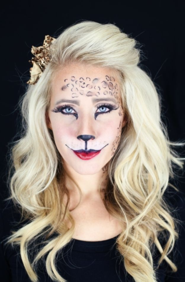 Best Halloween Makeup Tutorials - Easy Kitty Makeup - Easy Makeup Tips and Tutorial Ideas for The Best Halloween Costume - Animals, Eyes, Creative Faces, Simple and Scary Ghosts, Skeletons and Creatures - Zombie Makeup, Cute Looks, DIY Vampire, Gypsy, Mermaid and Creepy Sugar Skull, Cool Glam Looks for A Halloween Party and Instagram Photos - Ideas for Couples and Kids