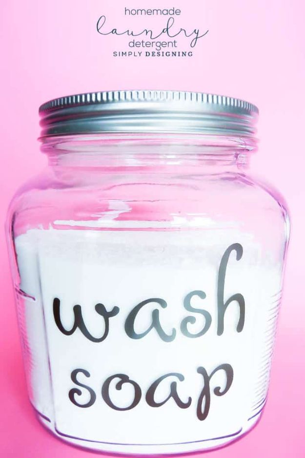 Laundry Detergent Recipes - Easy Wash Soap - DIY Detergents and Cleaning Recipe Tutorials for Homemade Inexpensive Cleaners You Can Make At Home #recipes #laundry