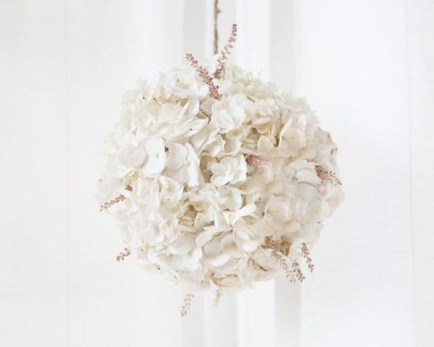 Dollar Tree Wedding Ideas - Floating Blush Hydrangea Globes - Cheap and Easy Dollar Store Crafts from Your Local Dollar Tree Store - Inexpensive Wedding Decor for the Bride on A Budget - Crafts and Centerpieces, Guest Book, Favors and Decorations You Can Make for Weddings - Pretty, Creative Flowers, Table Decor, Place Cards, Signs and Event Planning Idea