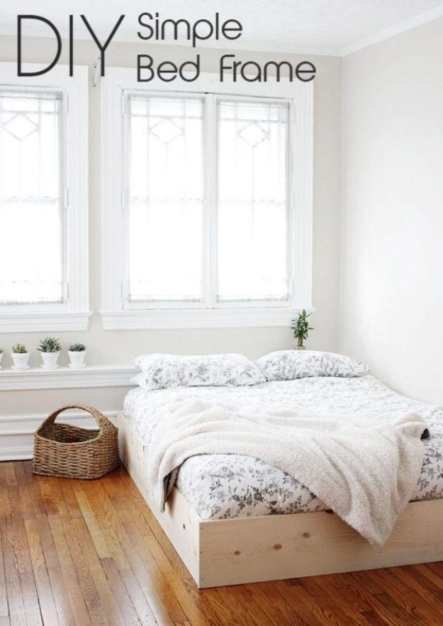 Flush with Floor DIY Bed Frame