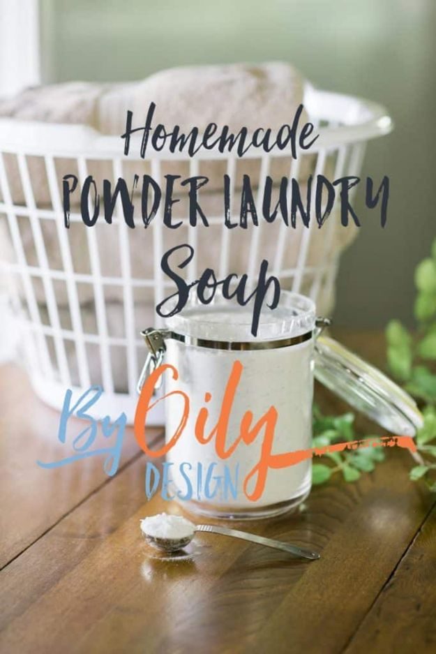 Laundry Detergent Recipes - Gentle DIY Powder Laundry Soap - DIY Detergents and Cleaning Recipe Tutorials for Homemade Inexpensive Cleaners You Can Make At Home - Scented Powder and Liquid for He Washer - Save Money With These Cheap Ideas - Natural Products With Essential Oils - Baby, Sensitive Skin Detergent Free Ideas http://diyjoy.com/diy-laundry-detergent-recipes