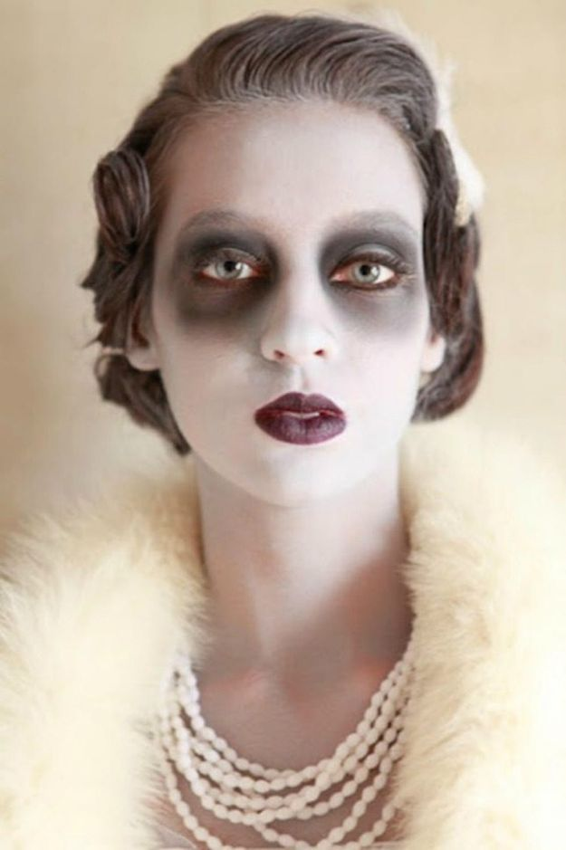 Best Halloween Makeup Tutorials - Ghostly Glamour - Easy Makeup Tips and Tutorial Ideas for The Best Halloween Costume - Animals, Eyes, Creative Faces, Simple and Scary Ghosts, Skeletons and Creatures - Zombie Makeup, Cute Looks, DIY Vampire, Gypsy, Mermaid and Creepy Sugar Skull, Cool Glam Looks for A Halloween Party and Instagram Photos - Ideas for Couples and Kids http://diyjoy.com/best-halloween-makeup-tutorials