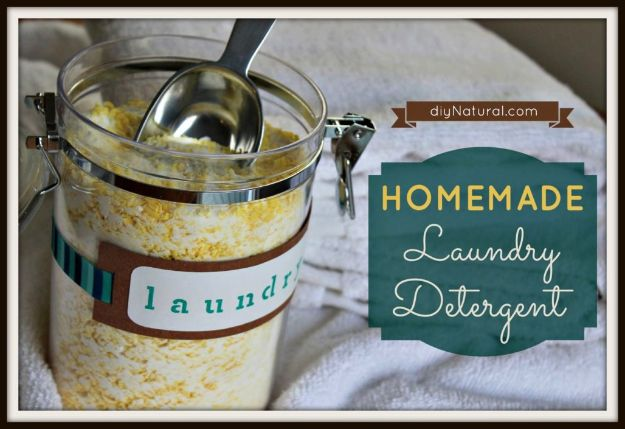Laundry Detergent Recipes - Homemade Laundry Detergent - DIY Detergents and Cleaning Recipe Tutorials for Homemade Inexpensive Cleaners You Can Make At Home - Scented Powder and Liquid for He Washer - Save Money With These Cheap Ideas - Natural Products With Essential Oils - Baby, Sensitive Skin Detergent Free Ideas http://diyjoy.com/diy-laundry-detergent-recipes