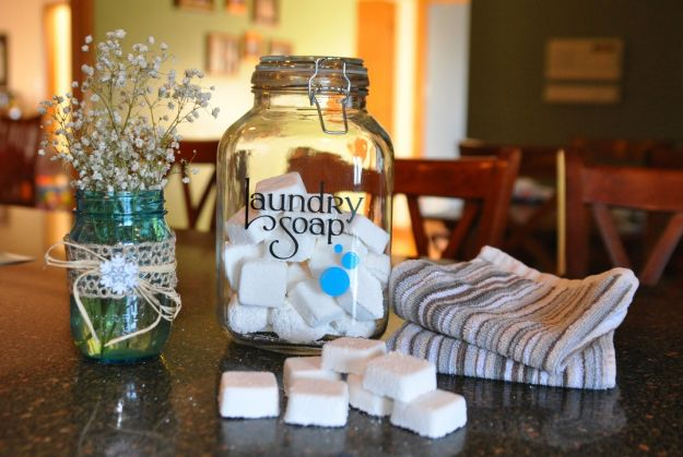 Laundry Detergent Recipes - Laundry Soap Tabs With Essential Oils - DIY Detergents and Cleaning Recipe Tutorials for Homemade Inexpensive Cleaners You Can Make At Home - Scented Powder and Liquid for He Washer - Save Money With These Cheap Ideas - Natural Products With Essential Oils - Baby, Sensitive Skin Detergent Free Ideas http://diyjoy.com/diy-laundry-detergent-recipes