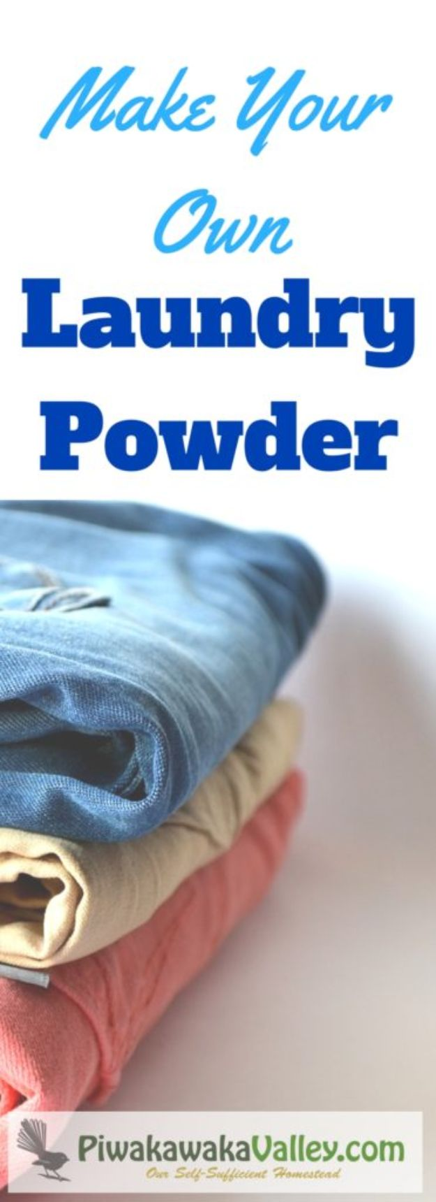 Laundry Detergent Recipes - Make Your Own Laundry Powder - DIY Detergents and Cleaning Recipe Tutorials for Homemade Inexpensive Cleaners You Can Make At Home - Scented Powder and Liquid for He Washer - Save Money With These Cheap Ideas - Natural Products With Essential Oils - Baby, Sensitive Skin Detergent Free Ideas http://diyjoy.com/diy-laundry-detergent-recipes