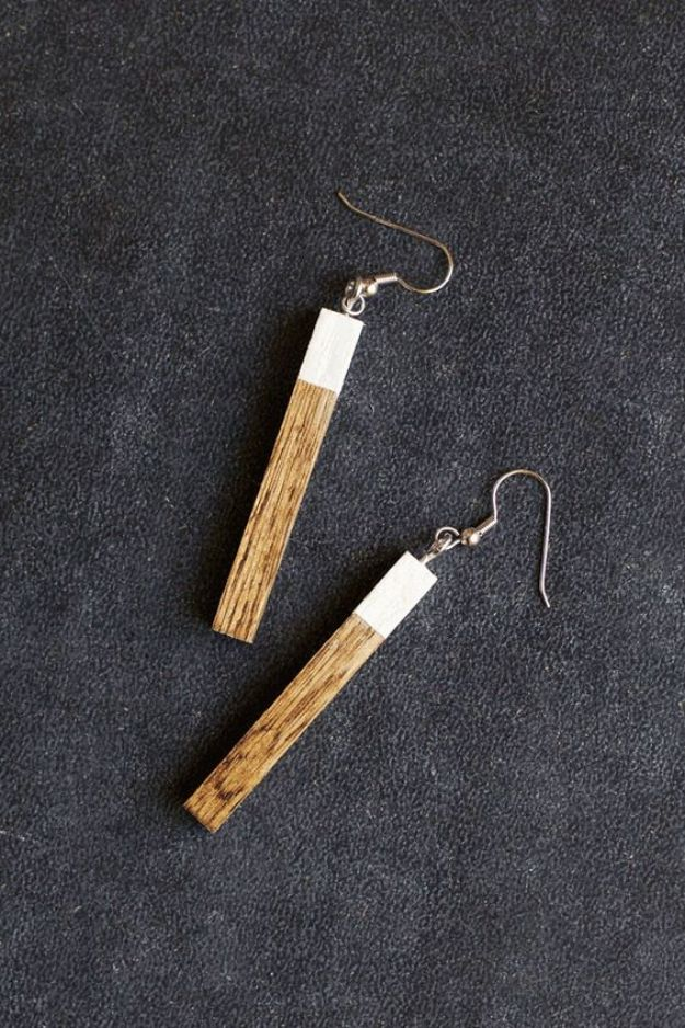 DIY Earrings - Modern Wooden Earrings - Easy Earring Projects for Studs, Dangle, Hoops, Tassel, Wire Wrap Beads and Handmade Cuff - Vintage, Boho, Beaded, Leather, Fabric andCrochet Ideas - Cheap Gifts for Her - Homemade Jewelry Tutorials With Step By Step Instructions