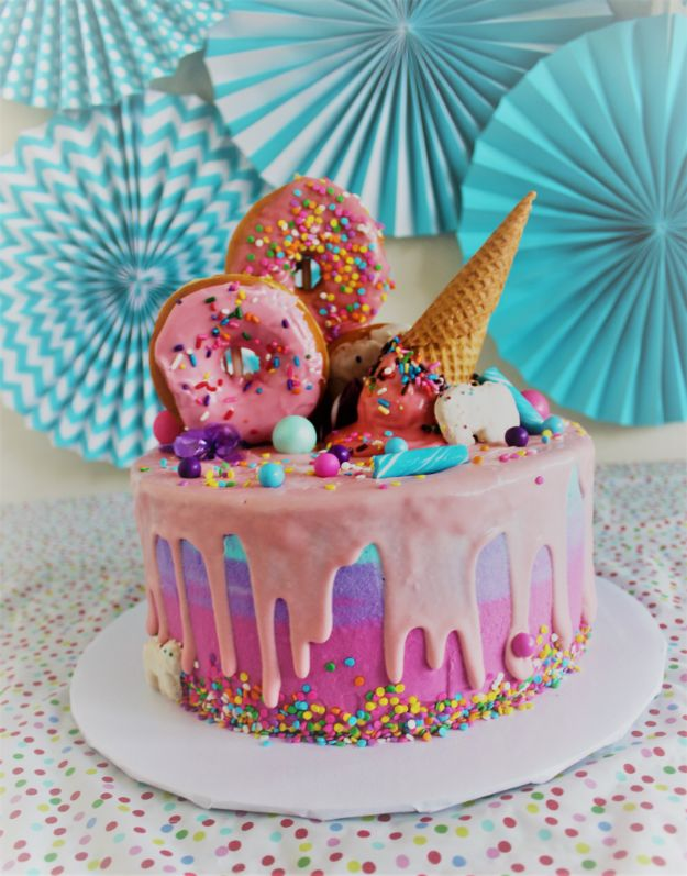 DIY Birthday Cakes - Salted Caramel Unicorn Cake - How To Make A Birthday Cake With Step by Step Tutorial - Bake Homemade Cakes for Special Occasions and Birthdays With These Best Birthday Cake Recipes - Fancy Chocolate, Basic Vanilla Buttercream easy cakes recipes birthdays
